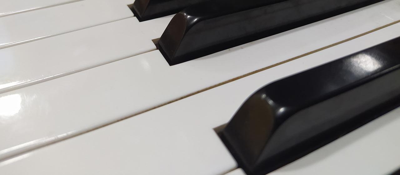 Close Up Glossy Piano Keys