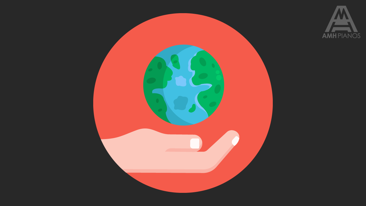Illustration Climate Of A Hand Holding Our Planet