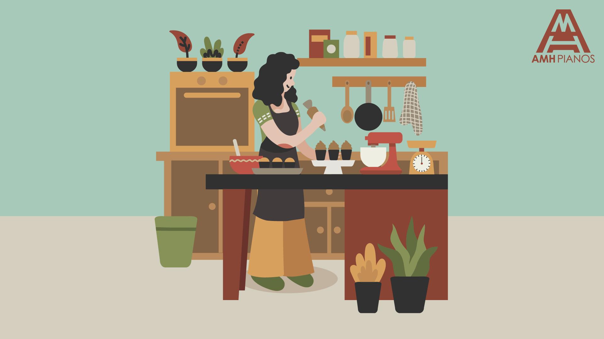 Illustration Of An Open Plan Kitchen