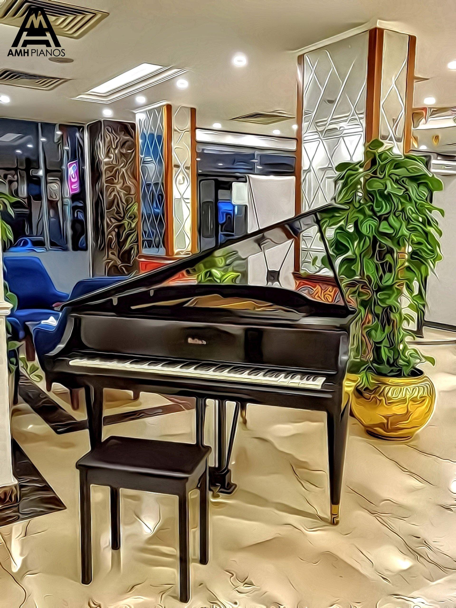 A Brown Baldwin Grand Piano In A Music Lounge