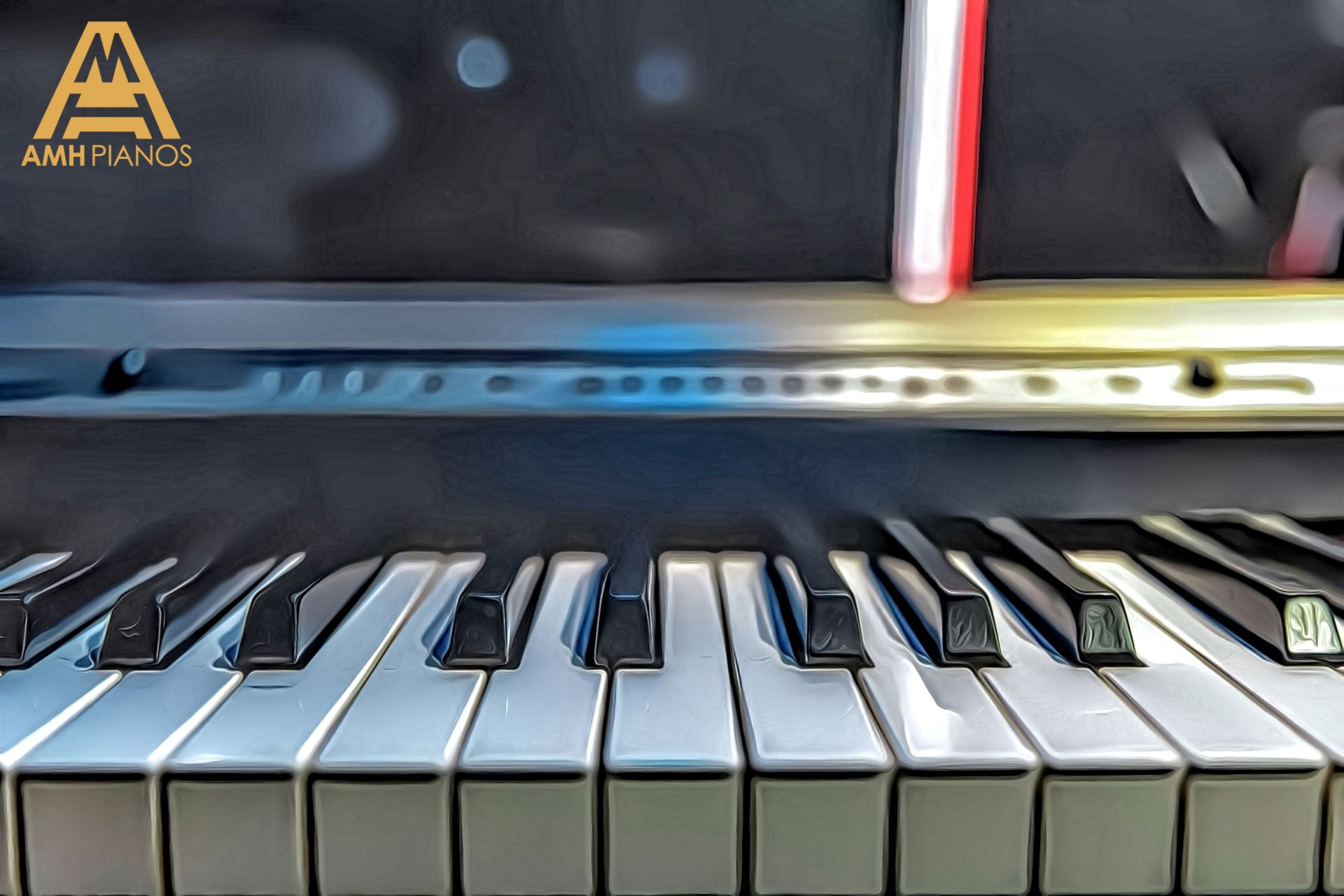 Close Up Of Piano Keys From A Upright Piano