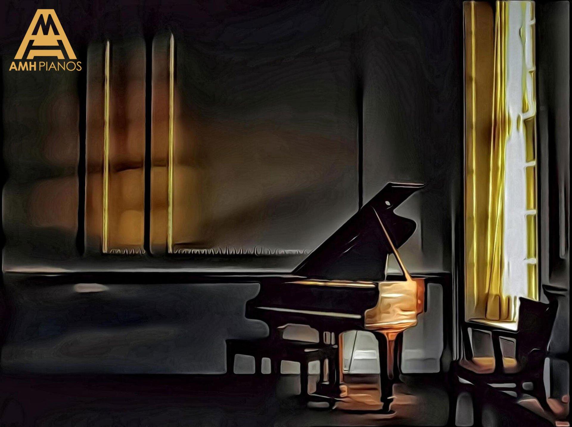 Window Light Over A Grand Piano